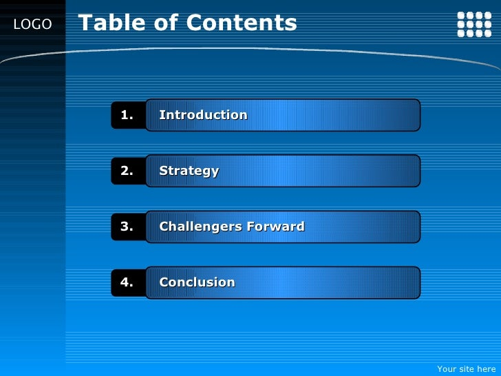 Contemporary Table Of Contents Powerpoint Template Gallery - Resume ...