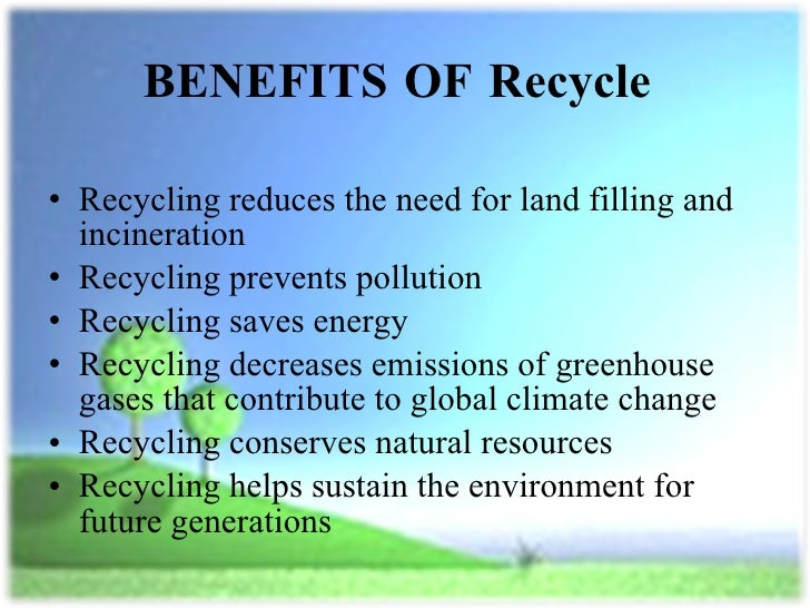 Thesis statement on benefits of recycling