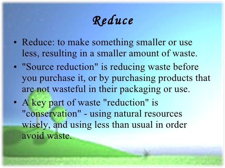 Essay about 3r reduce reuse recycle