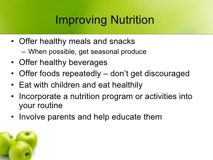 Programs Offer Healthy Foods