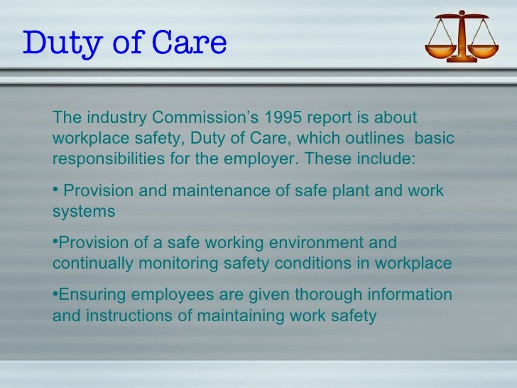 outline the main health and safety responsibilities of the employer or manager Unit purpose and aim outline the main health and safety responsibilities of: the social care worker the employer or manager.