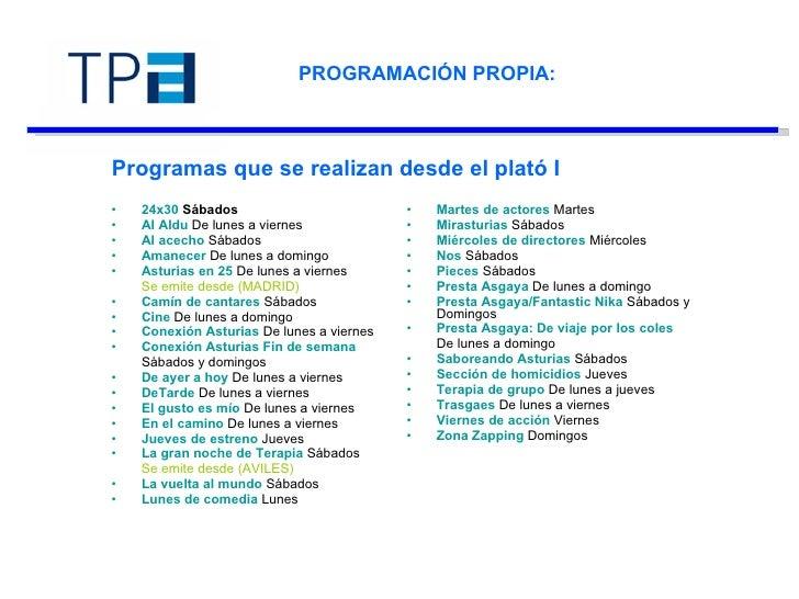 PROGRAMACIÓN PROPIA:  Programas que se realizan desde el plató I <ul><li>24x30  Sábados   </li></ul><ul><li>Al Aldu  De lu...