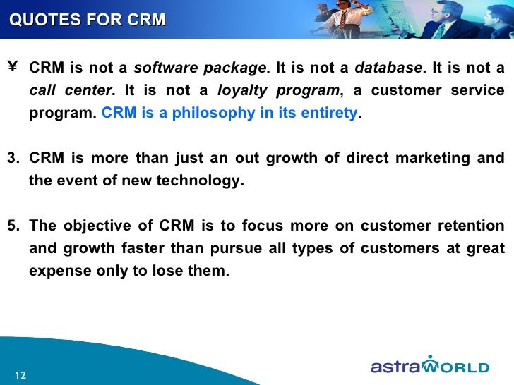 quotes about customer relationship management