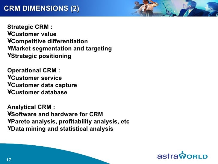 customer relationship management dimensions (2013) assessing the influence of customer relationship management (crm) dimensions on organization performance journal of hospitality and tourism technology 4 :3, 228-247 online publication date: 27-sep-2013.