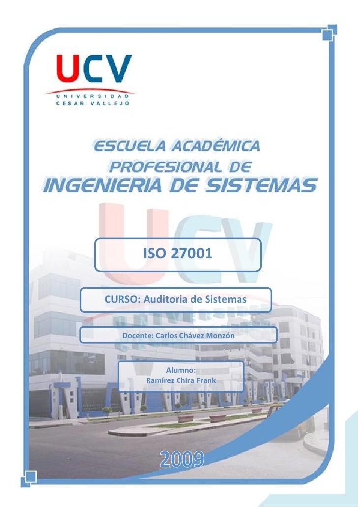 Escuela de Ingeniera de Sistemas VIII ciclo                Universidad Cesar Vallejo                                      ...