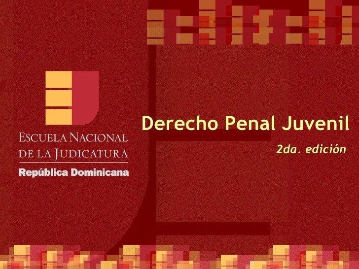 Derecho Penal Juvenil 2da. edición