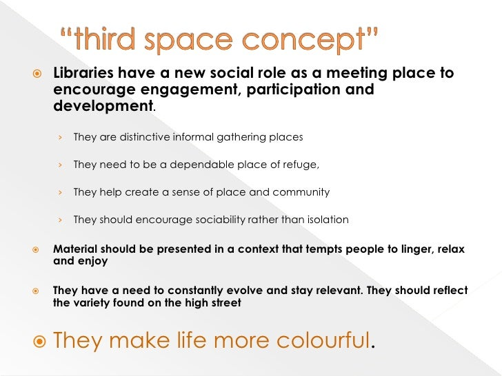 Changing space in libraries essay