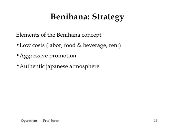 what is benihana concept Benihana's solid management team is committed to keeping benihana one of the world's finest and most thriving restaurant organizations our proven method of operation has tremendous appeal and represents a value to all future licensees.