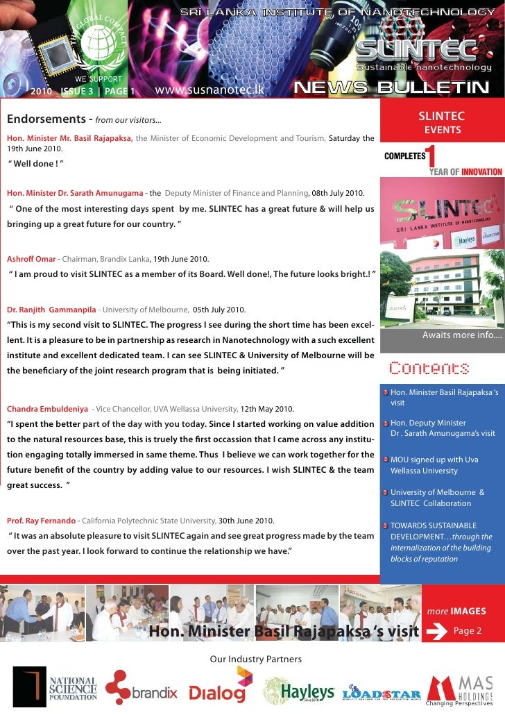 C:\Documents And Settings\Ruwwan G\Desktop\Slintec News Bulletin July 2010