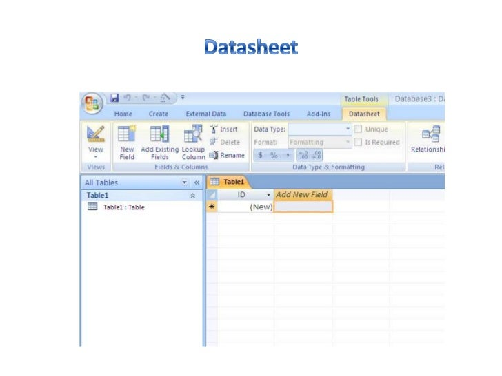 how to create database in microsoft access 2007 pdf