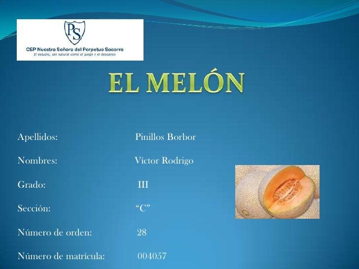 Apellidos:             Pinillos Borbor  Nombres:               Víctor Rodrigo  Grado:                 III  Sección:       ...