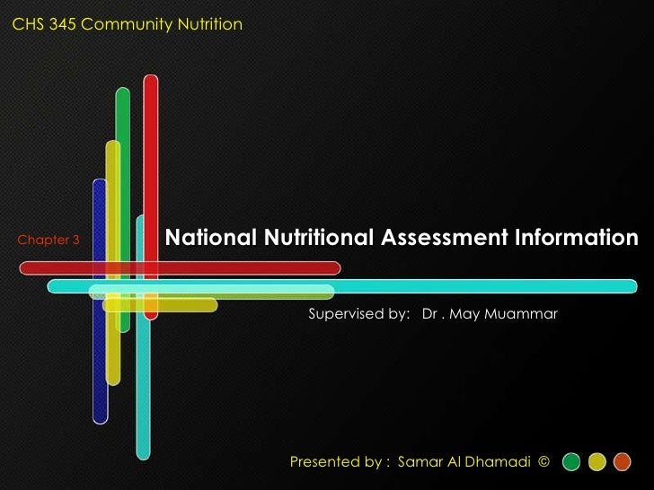 CHS 345 Community Nutrition                      National Nutritional Assessment Information Chapter 3                    ...