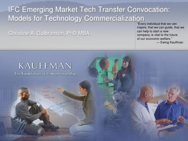 IFC Emerging Market Tech Transfer Convocation:  Models for Technology Commercialization                                   ...