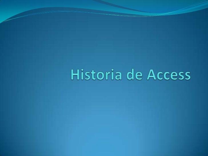 Historia de Access<br />