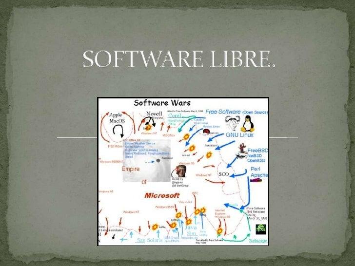  Software libre (en inglés free software) es la  denominación del software que brinda libertad a los  usuarios sobre su p...