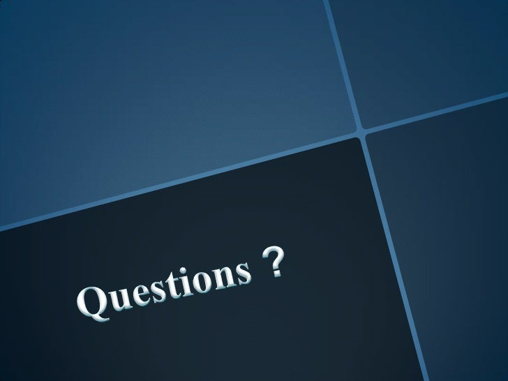 Questions ?<br />