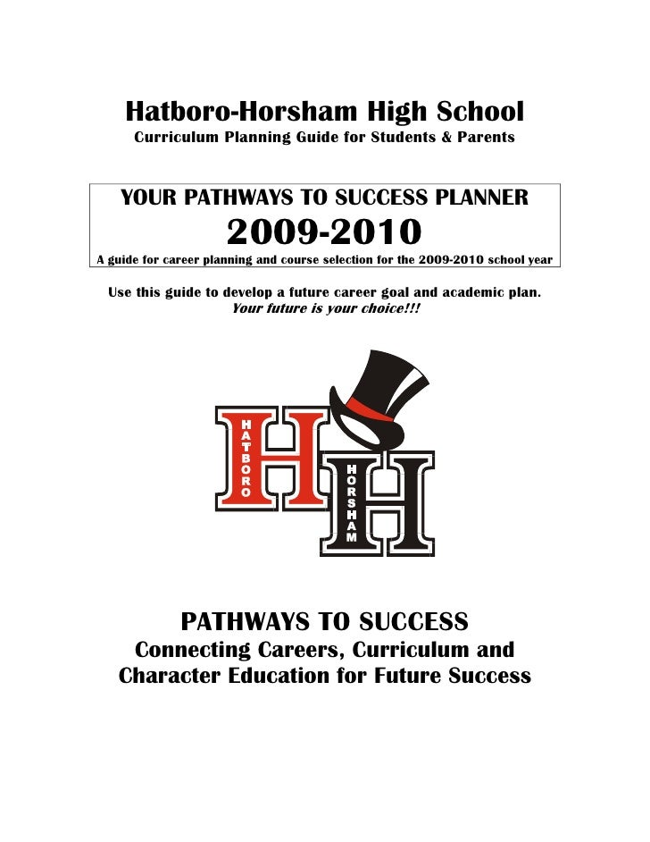 Hatboro-Horsham High School       Curriculum Planning Guide for Students & Parents       YOUR PATHWAYS TO SUCCESS PLANNER ...