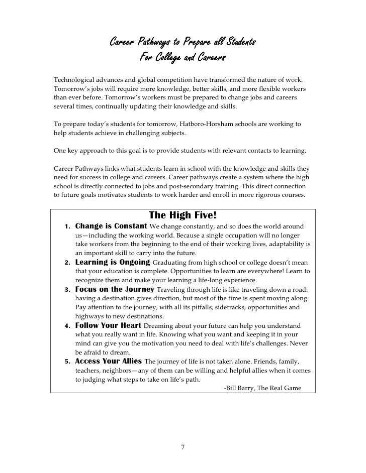 Hatboro-Horsham High School Pathways to Success Academic Planner for …
