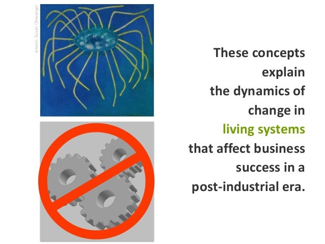 These concepts explain the dynamics of change in living systems that affect business success in a post-industrial era. art...