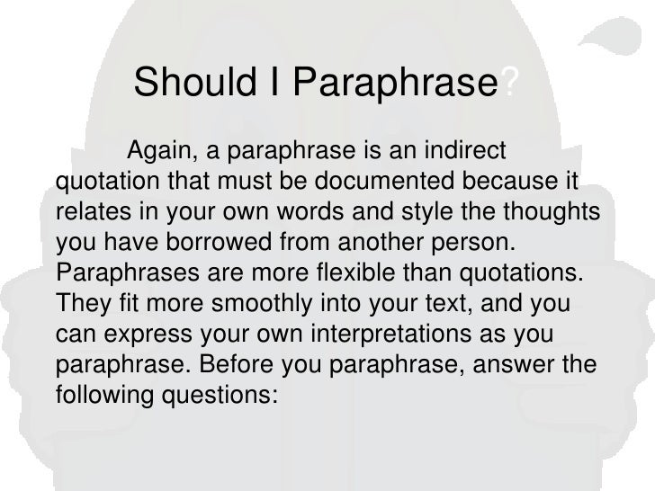 paraphrases in essays Membership to the bar association of san francisco offers legal professionals discounts and services in a variety of areas cle programs, practice management, business products and legal publications.