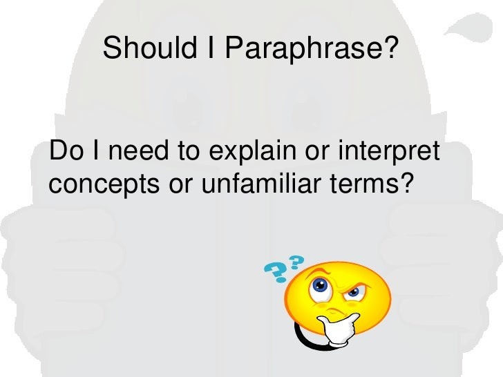 paraphrases in essays Writing summaries and paraphrases the ability to summarize and paraphrase is an essential academic skill summaries and paraphrasing help substantiate ideas in.
