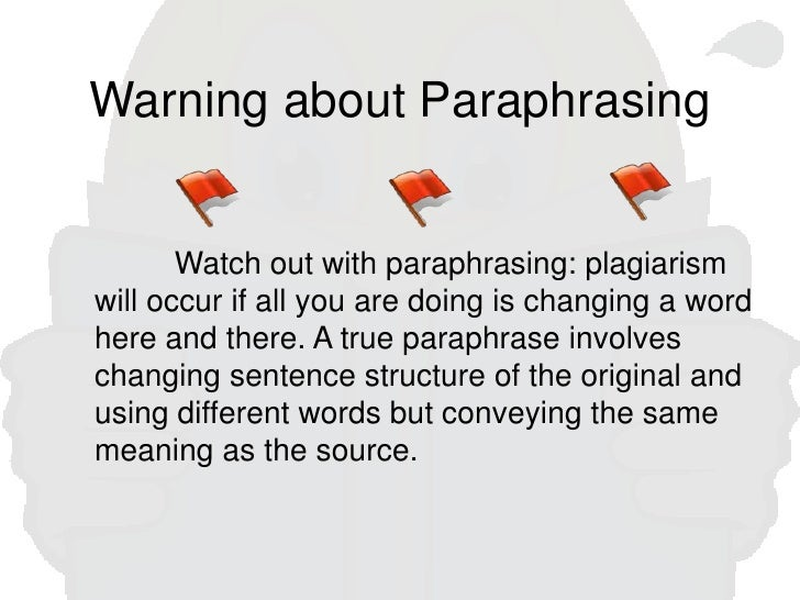 Using Quotations Paraphrases And Summaries In Essays  Warning About Paraphrasing