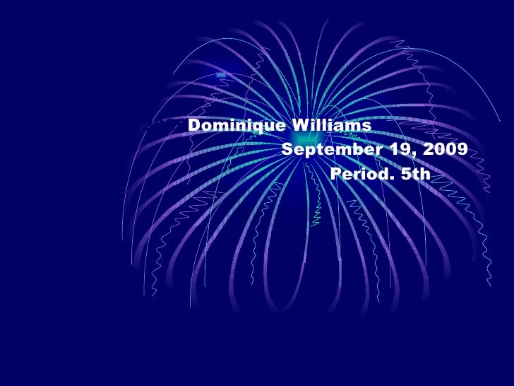 2009 Dominique Williams   September 19, 2009   Period. 5th