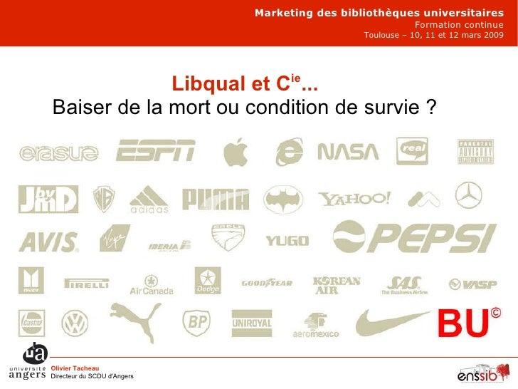 Marketing des bibliothèques universitaires Formation continue Toulouse – 10, 11 et 12 mars 2009 Olivier Tacheau Directeur ...