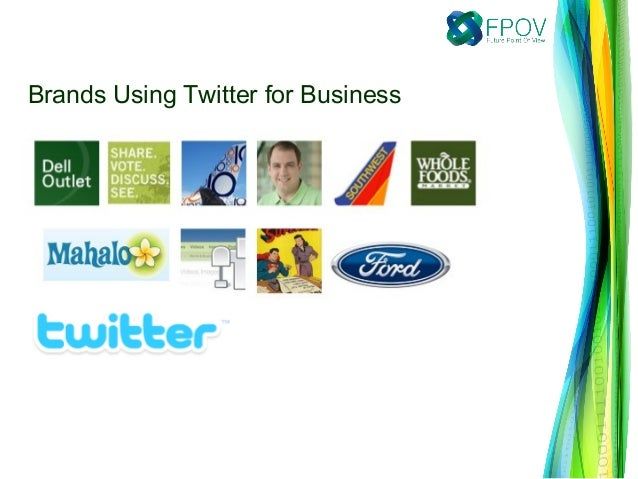 Brands Using Twitter for Business