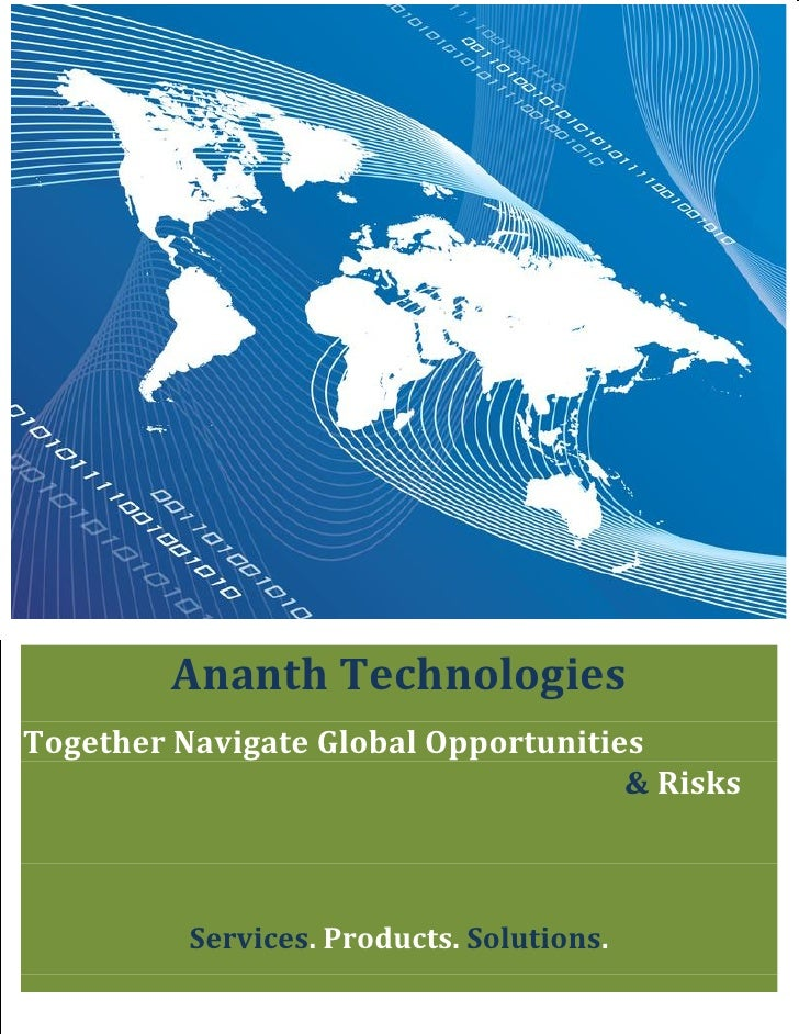 Ananth Technologies Together Navigate Global Opportunities                                      & Risks              Servi...