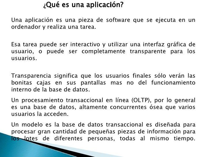 ¿Qué es una aplicación?  Una aplicación es una pieza de software que se ejecuta en un ordenador y realiza una tarea.  Esa ...