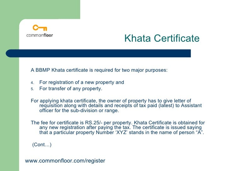 Khata Transfer And Registaration Process