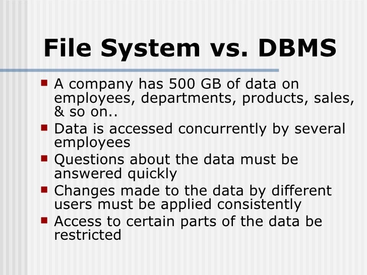 Files Vs Database