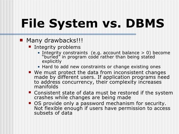 Database vs file system essay