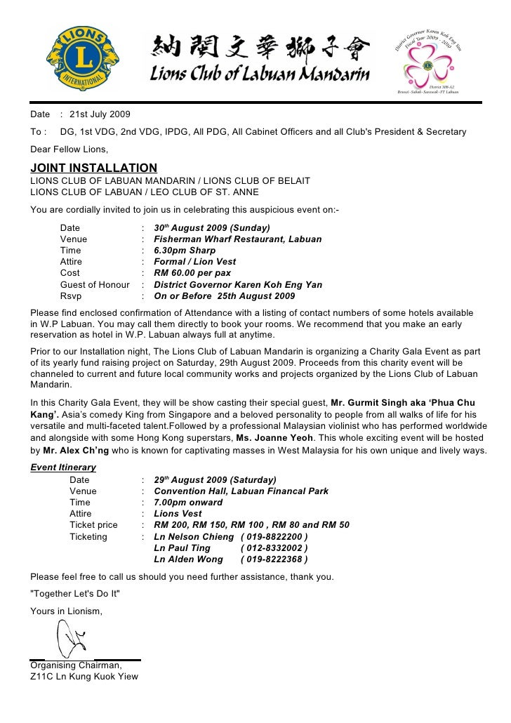 INVITATION TO JOINT INSTALLATION FY20092010 LABUAN MANDARINLABUAN
