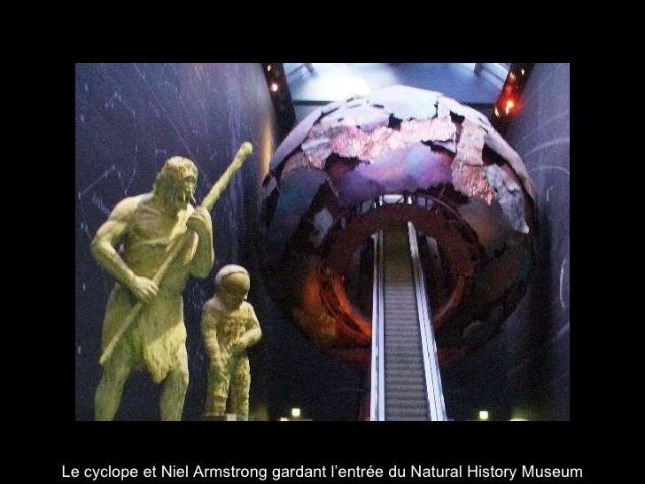 Le cyclope et Niel Armstrong gardant l'entrée du Natural History Museum