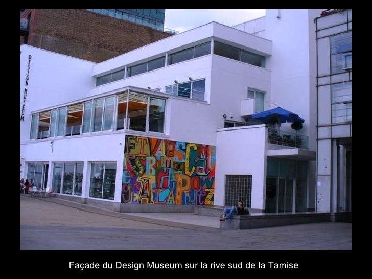 Façade du Design Museum sur la rive sud de la Tamise