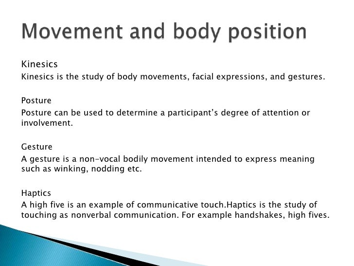 Communication nonverbal 5 of examples What are