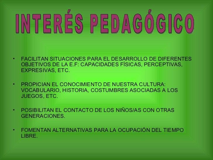 LOS JUEGOS TRADICIONALES  Slide 3