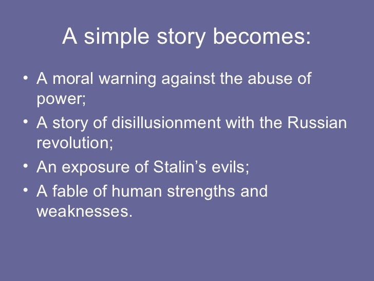 animal farm as a political allegory Writing a george orwell, animal farm essay – history and allegory above all else, animal farm is an allegory and a fable – a tale in which a political or social statement is made by giving animals human characteristics.