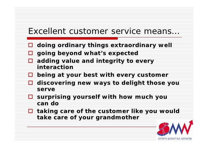 example of excellent customer service in a call centre