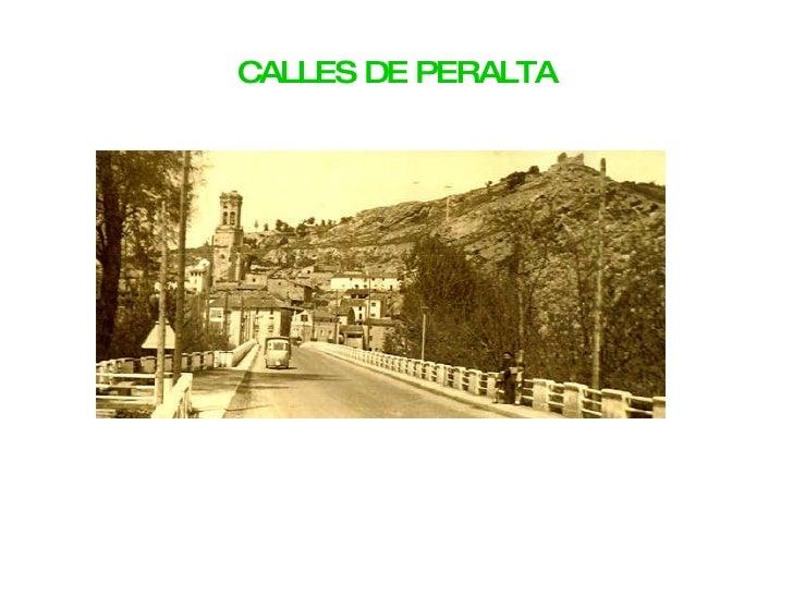 CALLES DE PERALTA
