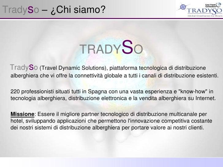 Presentazione Tradyso 2010 Sistema Di Distribuzione Alberghiera