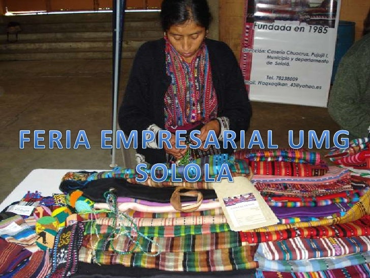 FERIA EMPRESARIAL UMG SOLOLA<br />