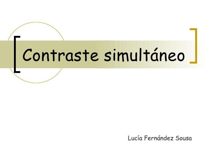 Contraste simultáneo Lucía Fernández Sousa