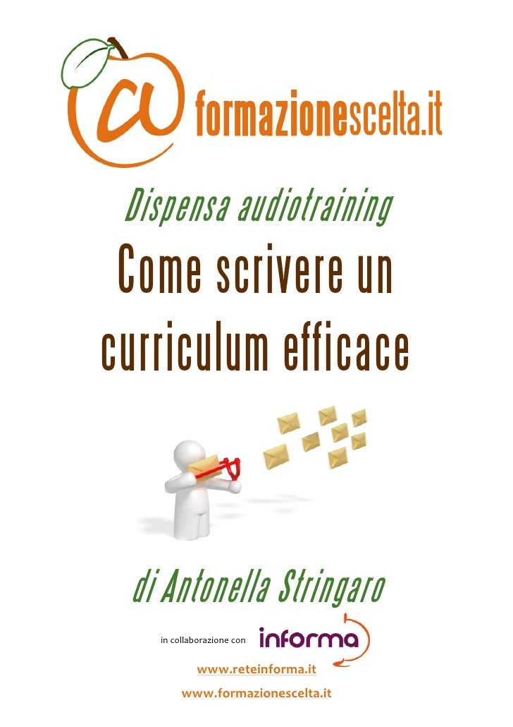 come scrivere un curriculum efficace