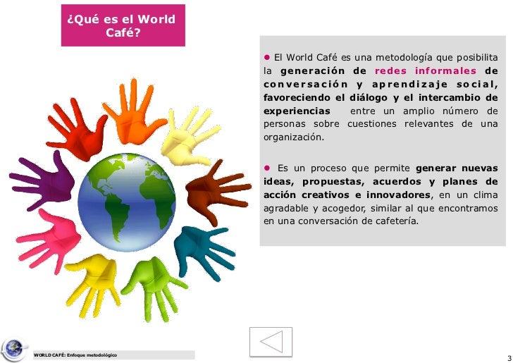 Enfoque metodológico: World Cafe Slide 3
