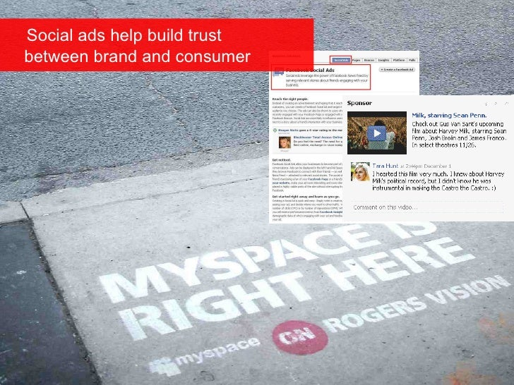 Social ads help build trust   between brand and consumer