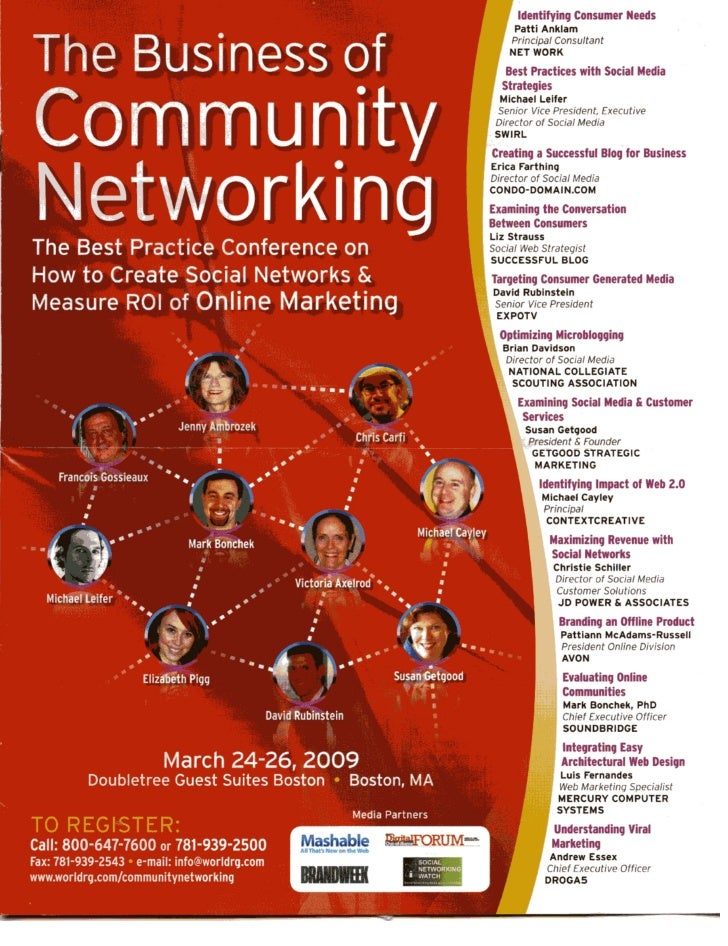 Business of Community Networking Conference