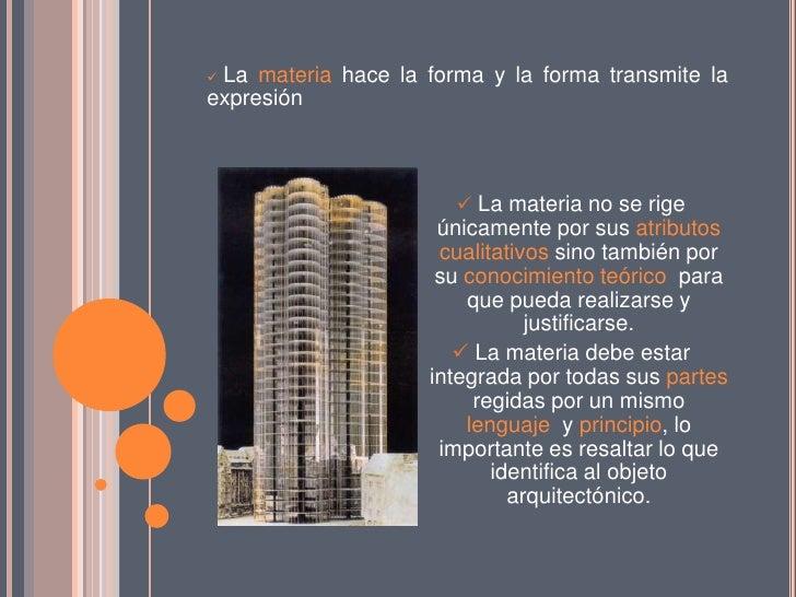 Arquitectura materia y forma for Arquitectura materias